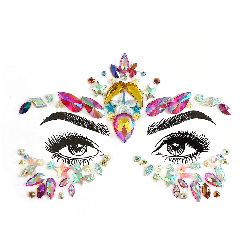 Colorful Rhinestone Crystal Face Jewels