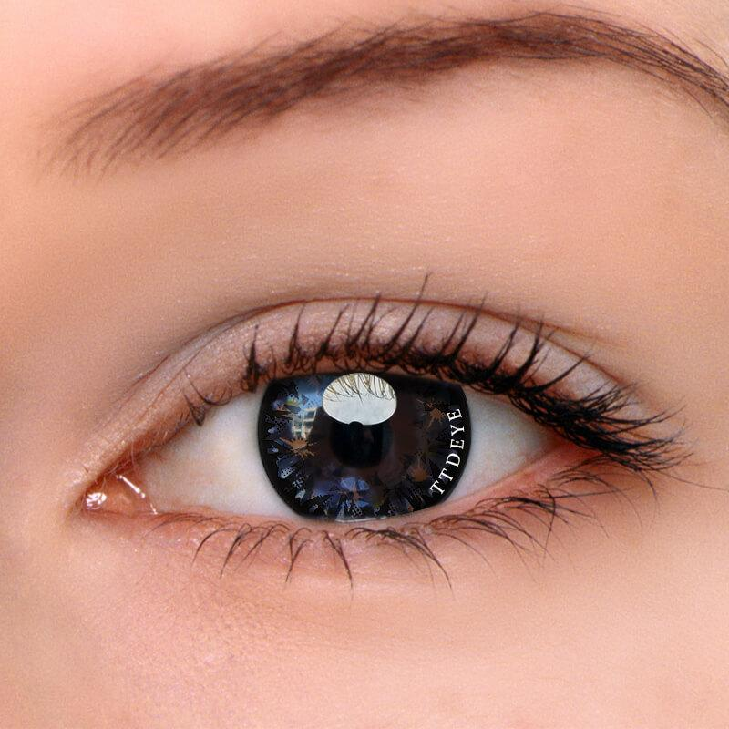 TTDeye Black Starshine Colored Contact Lenses