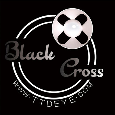 TTDeye Black Cross Colored Contact Lenses