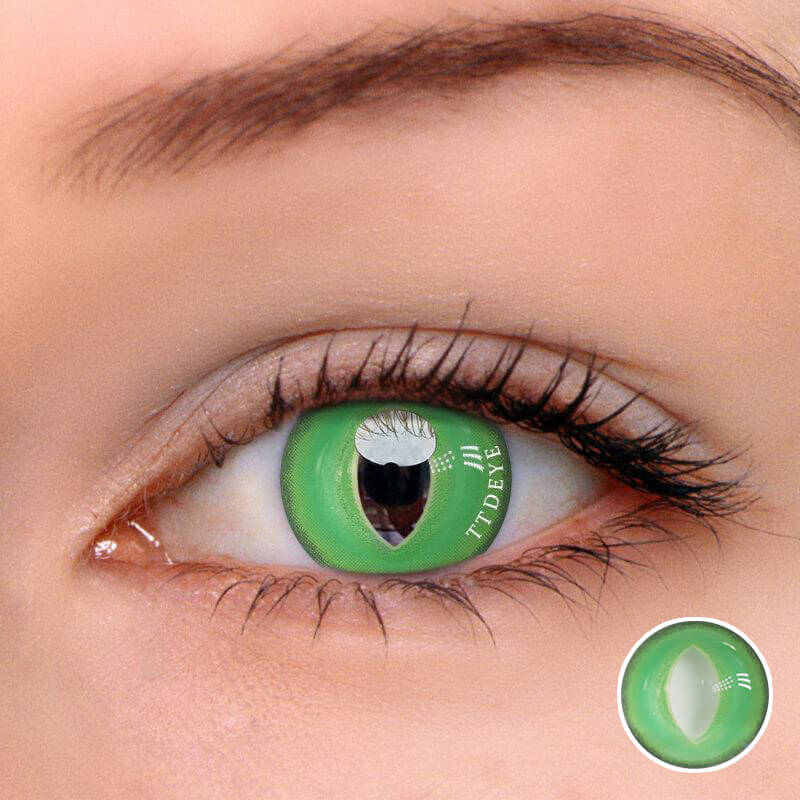 TTDeye British Shorthair Green Colored Contact Lenses