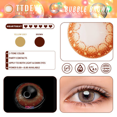 TTDeye Bubble Brown Colored Contact Lenses