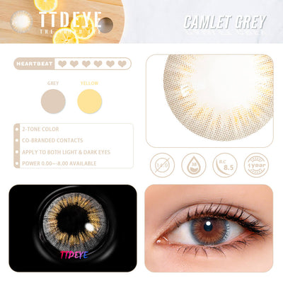 REAL x TTDeye Camlet Grey Colored Contact Lenses