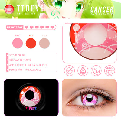 TTDeye Cancer Colored Contact Lenses