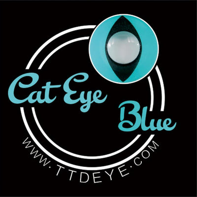 TTDeye Cat Eye Blue Colored Contact Lenses