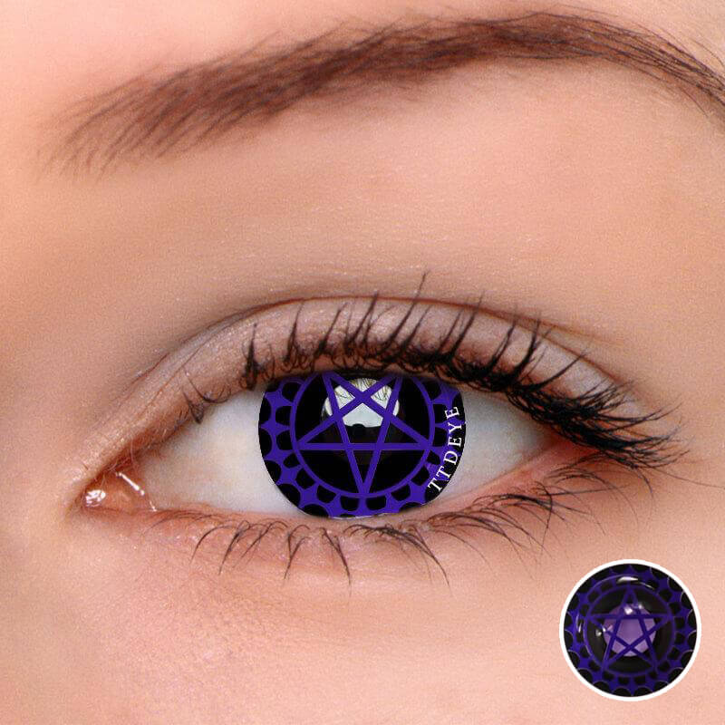 TTDeye Ciel's Contract Purple Colored Contact Lenses
