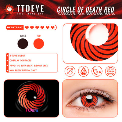 TTDeye Circle of Death Red Colored Contact Lenses