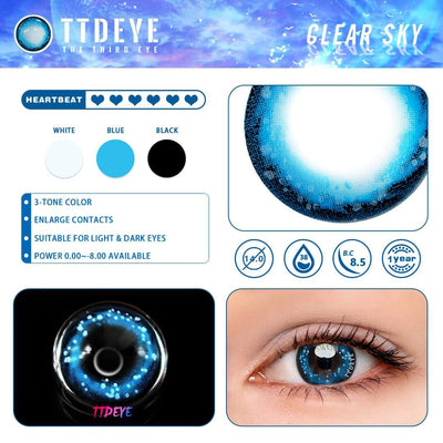 TTDeye Clear Sky Colored Contact Lenses