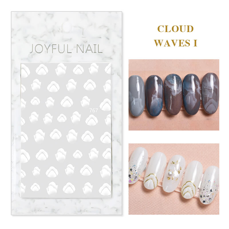 TTDeye Cloud Waves Nail Stickers