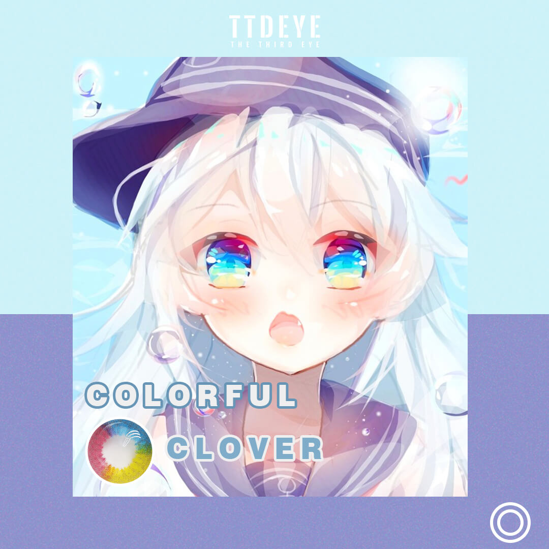TTDeye Colorful Clover Colored Contact Lenses