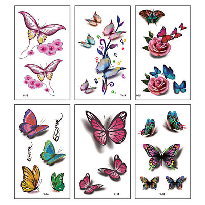 TTDeye Colorful Butterfly 30 Piece Tattoo Stickers