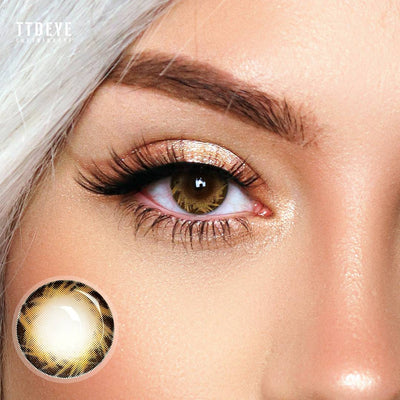 TTDeye Comet Brown Colored Contact Lenses