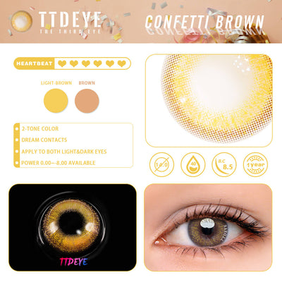 TTDeye Confetti Brown Colored Contact Lenses