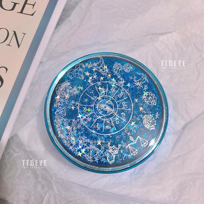 TTDeye 12 Constellations Flowing Sand Lens Case