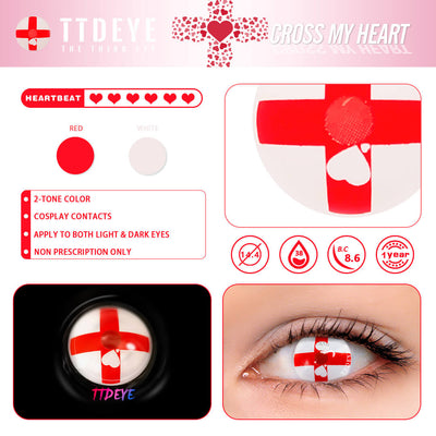 TTDeye Cross My Heart Colored Contact Lenses