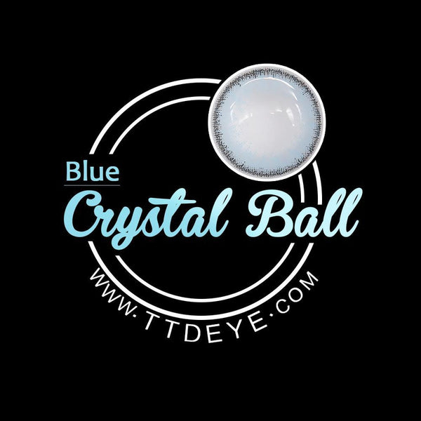 TTDeye Crystal Ball Blue Colored Contact Lenses