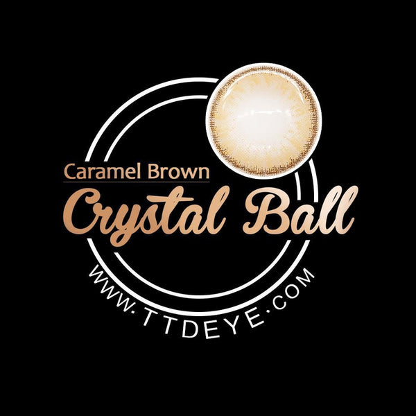 TTDeye Crystal Ball Caramel Brown Colored Contact Lenses