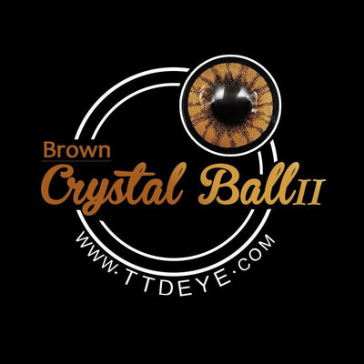 TTDeye Crystal Ball Brown II Colored Contact Lenses