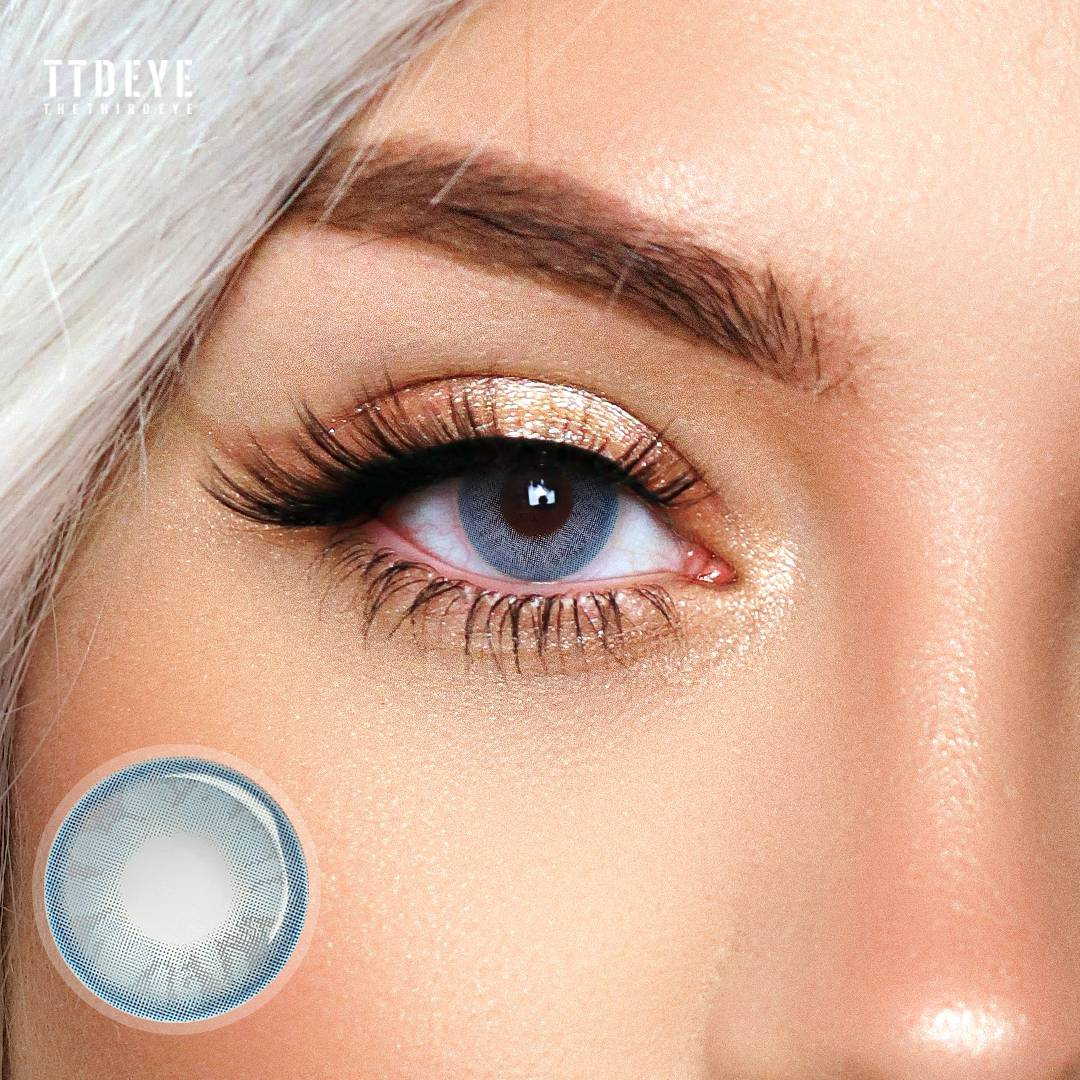 TTDeye Daisy Blue Colored Contact Lenses