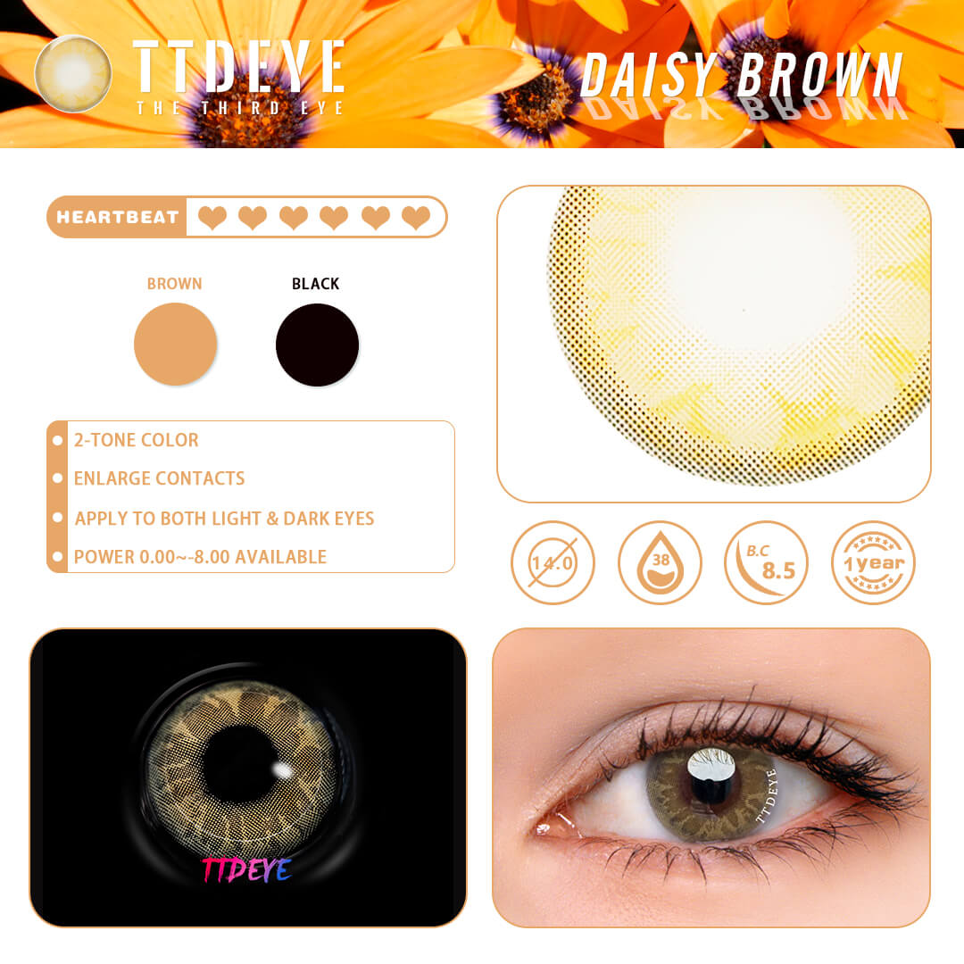 Daisy Brown Color Contacts Fashion Pretty Ttdeye Ttdeye One pair of lenses and one. ttdeye daisy brown colored contact lenses