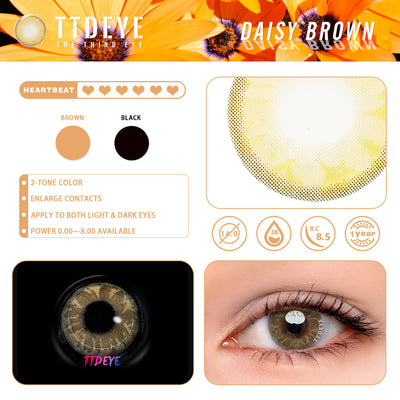 TTDeye Daisy Brown Colored Contact Lenses