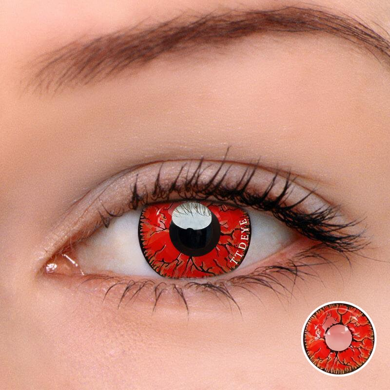 TTDeye Dangerous Ruby Colored Contact Lenses