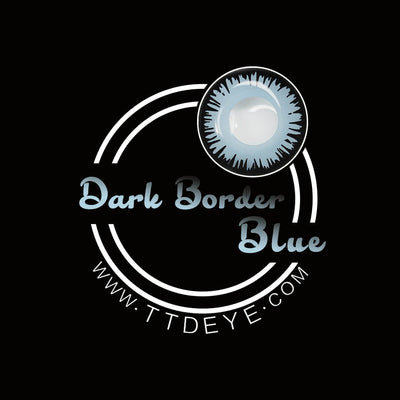 TTDeye Dark Border Blue Colored Contact Lenses