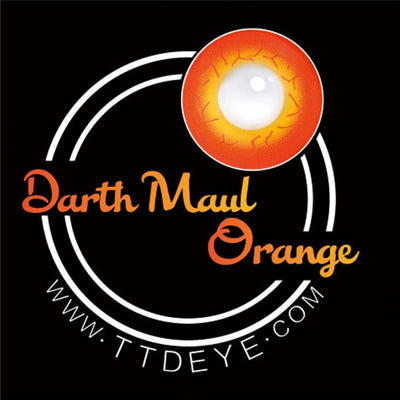 TTDeye Darth Maul Orange Colored Contact Lenses