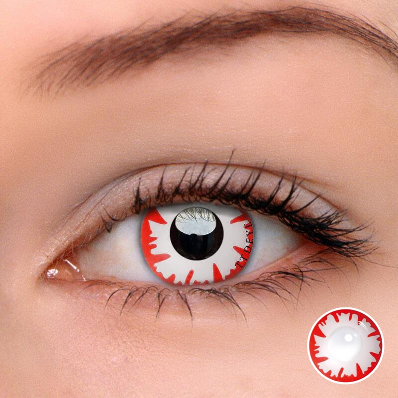 TTDeye Demon White Colored Contact Lenses