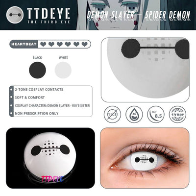 TTDeye Demon Slayer - Spider Demon Colored Contact Lenses