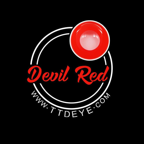 TTDeye Devil Red Colored Contact Lenses