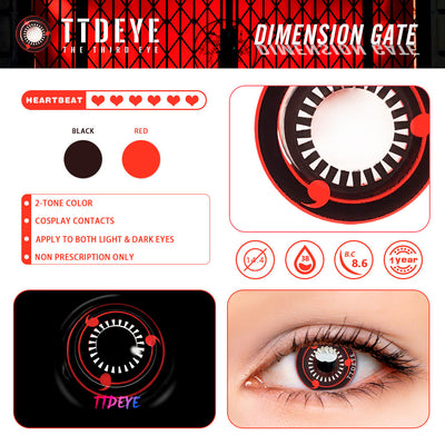TTDeye Dimension Gate Colored Contact Lenses