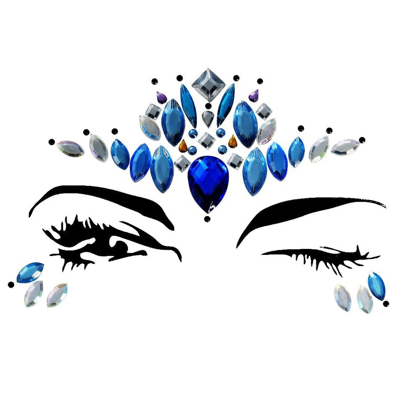 Dolphin Rhinestone Crystal Face Jewels