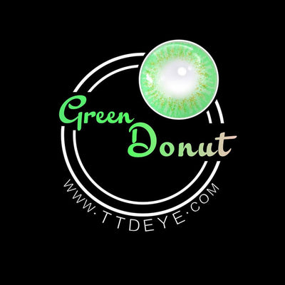 TTDeye Donut Green Colored Contact Lenses