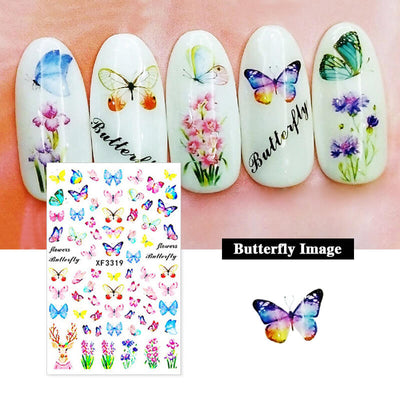 TTDeye Dream About Butterflies Nail Stickers