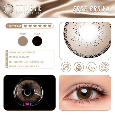 TTDeye Edge Brown Colored Contact Lenses