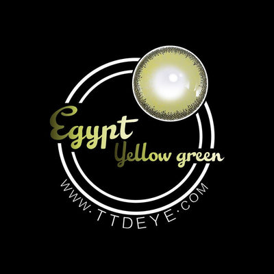 TTDeye Egypt Yellow-Green Colored Contact Lenses