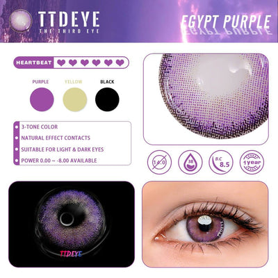 TTDeye Egypt Purple Colored Contact Lenses