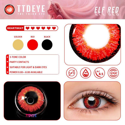 TTDeye Elf Red Colored Contact Lenses