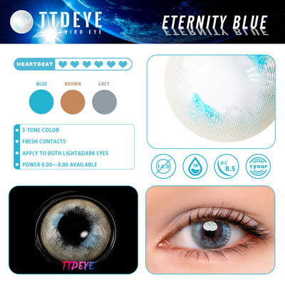 TTDeye Eternity Blue Colored Contact Lenses