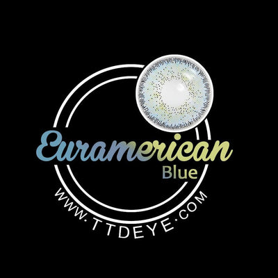 TTDeye Euramerican Blue Colored Contact Lenses