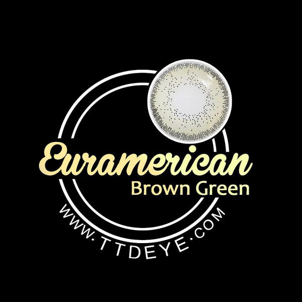 TTDeye Euramerican Brown-Green Colored Contact Lenses