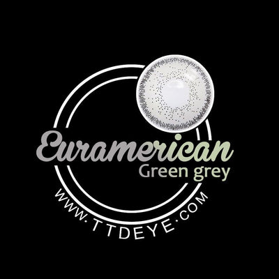 TTDeye Euramerican Green-Grey Colored Contact Lenses