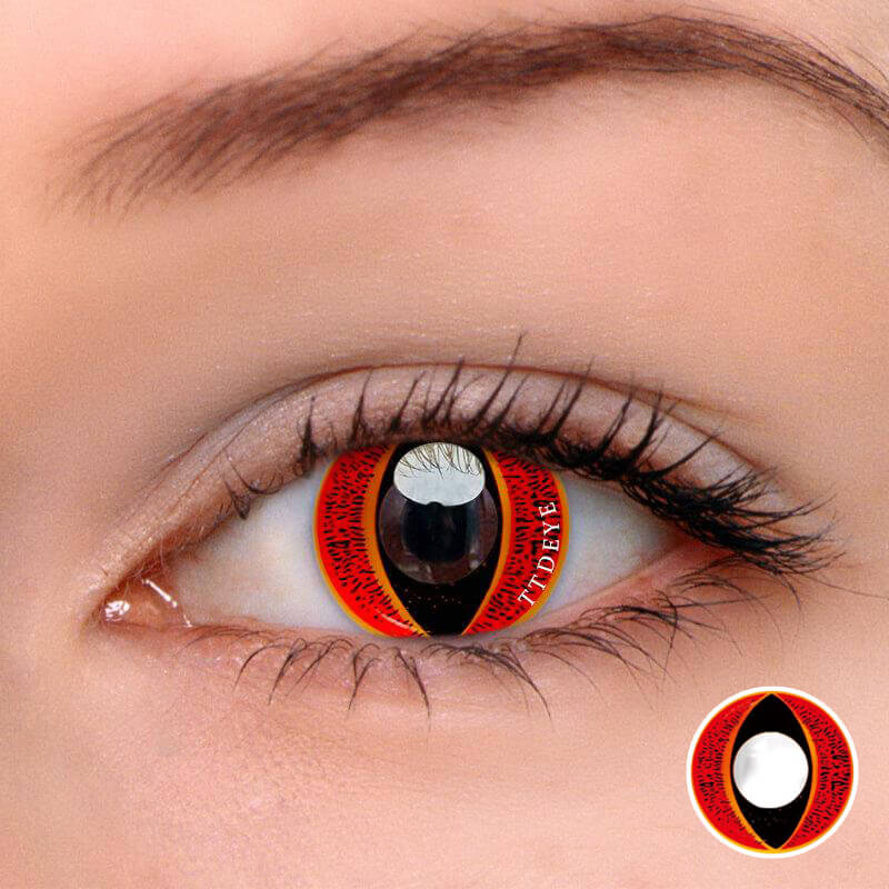 TTDeye Eye Of Sauron Red Colored Contact Lenses