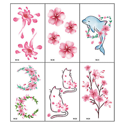 TTDeye Falling Sakura 30 Piece Tattoo Stickers