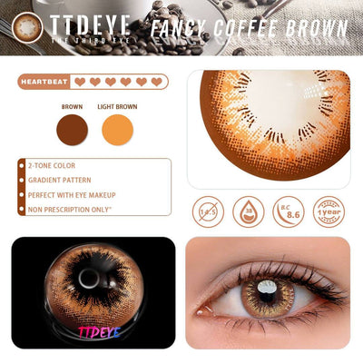 TTDeye Fancy Coffee Brown Colored Contact Lenses