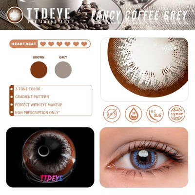 TTDeye Fancy Coffee Grey Colored Contact Lenses