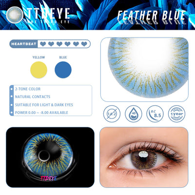 TTDeye Feather Blue Colored Contact Lenses