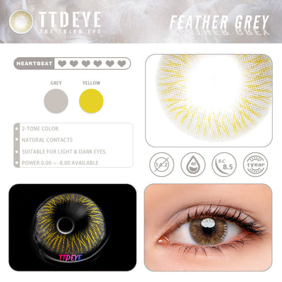 TTDeye Feather Grey Colored Contact Lenses