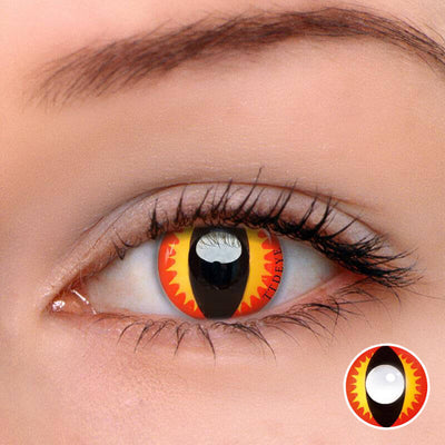TTDeye Fire Dragon Red Colored Contact Lenses