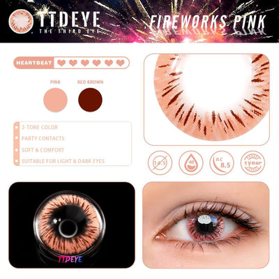 TTDeye Fireworks Pink Colored Contact Lenses
